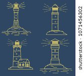 lighthouse tower.navigation... | Shutterstock .eps vector #1071456302