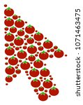 mouse cursor mosaic of tomato...