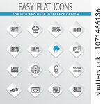 server flat web icons for user... | Shutterstock .eps vector #1071466136