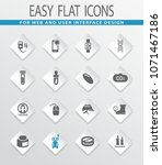 science flat vector icons for... | Shutterstock .eps vector #1071467186