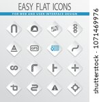 road vector icons for user... | Shutterstock .eps vector #1071469976