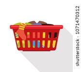 laundry basket vector | Shutterstock .eps vector #1071470312