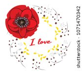 vector frame with hand drawn... | Shutterstock .eps vector #1071470342