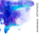 abstract background. watercolor ... | Shutterstock . vector #1071476222