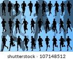 marathon runners detailed...