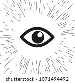 vector icon eye against the... | Shutterstock .eps vector #1071494492