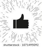 symbol like  sign like vector ... | Shutterstock .eps vector #1071495092