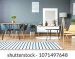 striped carpet in grey... | Shutterstock . vector #1071497648