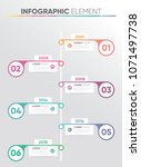 infographic business timeline... | Shutterstock .eps vector #1071497738