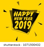 happy new year 2019  square... | Shutterstock .eps vector #1071500432
