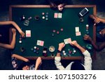 aerial of people playing gamble ... | Shutterstock . vector #1071503276
