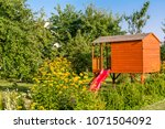 summer children house in the... | Shutterstock . vector #1071504092