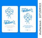 happy mother's day calligraphy...   Shutterstock .eps vector #1071509315