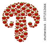 champignon mushroom mosaic of... | Shutterstock . vector #1071512666