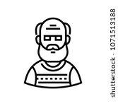 senior man   line design single ... | Shutterstock .eps vector #1071513188