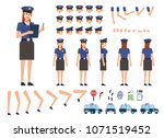 policewoman creation kit.... | Shutterstock .eps vector #1071519452