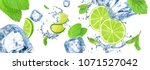 large hq background with lime ... | Shutterstock . vector #1071527042