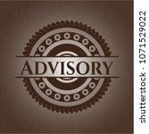 advisory wooden emblem. retro | Shutterstock .eps vector #1071529022