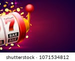 casino winner banner signboard... | Shutterstock .eps vector #1071534812
