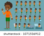 a set of boy with digital... | Shutterstock .eps vector #1071536912
