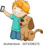 illustration of a kid boy...   Shutterstock .eps vector #1071538172