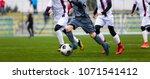 junior football match. soccer...   Shutterstock . vector #1071541412