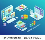 mobile web analytics... | Shutterstock .eps vector #1071544322