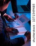 businessman showing financial... | Shutterstock . vector #1071549485
