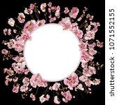 adorable cherry blossom...   Shutterstock . vector #1071552155