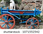 horse drawn carriage carrying... | Shutterstock . vector #1071552542