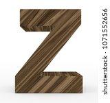 letter z 3d wooden isolated on... | Shutterstock . vector #1071552656