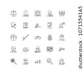 law outline icons 25 | Shutterstock .eps vector #1071554165