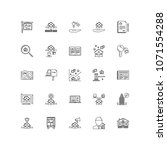 real estate outline icons 25 | Shutterstock .eps vector #1071554288