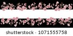 adorable cherry blossom... | Shutterstock . vector #1071555758