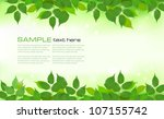 nature background with green... | Shutterstock .eps vector #107155742