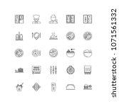 restaurant outline icons 25 | Shutterstock .eps vector #1071561332