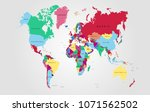 world map vector. | Shutterstock .eps vector #1071562502