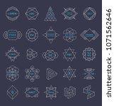 trendy logos geometric shapes... | Shutterstock .eps vector #1071562646