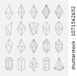 abstract crystal shapes vector... | Shutterstock .eps vector #1071562652