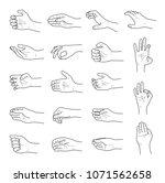hand gestures contour sketch...   Shutterstock .eps vector #1071562658