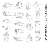 hand gestures contour sketch...   Shutterstock .eps vector #1071562808