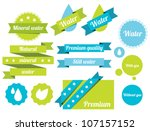 set of water badges  labels and ... | Shutterstock .eps vector #107157152