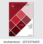annual business report cover... | Shutterstock .eps vector #1071574655