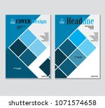 annual business report cover... | Shutterstock .eps vector #1071574658