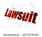 law concept  pixelated red text ... | Shutterstock . vector #1071579425