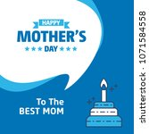 happy mothers day lettering.... | Shutterstock .eps vector #1071584558