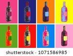 wine bottles hand drawing...
