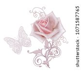 decorative decoration  paisley... | Shutterstock . vector #1071587765