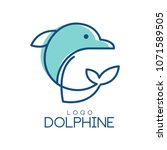 dolphine logo design  abstract... | Shutterstock .eps vector #1071589505