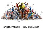 grand sports collage soccer... | Shutterstock . vector #1071589835